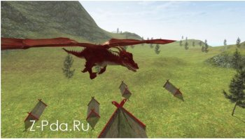 Flying Fire Drake Simulator 3D