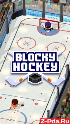 Blocky Hockey - Ice Runner